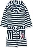 Playshoes Fleece-Bademantel Ringel Maritim Traje de baño, Azul (Marine/Weiß 171), 146/152 para Niños