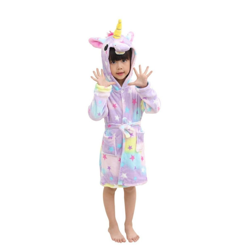 Albornoz Suave Para Niños Unicornio